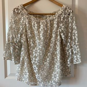 Flowy lace detailed shirt
